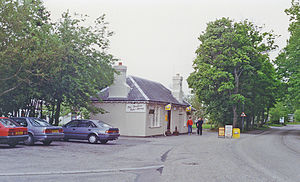 Dornoch railway station - The former station in 1994