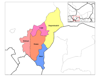Departments of Niger - Departments of Dosso