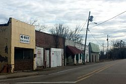 Downtown Arcola, MS on old US 61 facing south