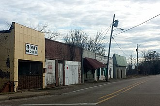 Arcola, Mississippi - Downtown Arcola, MS on old US 61 facing south
