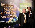 Dr. Gerardo Jiménez Sánchez con el Dr. Guillermo Soberón Acevedo.jpg