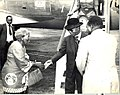 Dr Banda is welcomed by her sister, Jenala Chatinkha, 1979.jpg