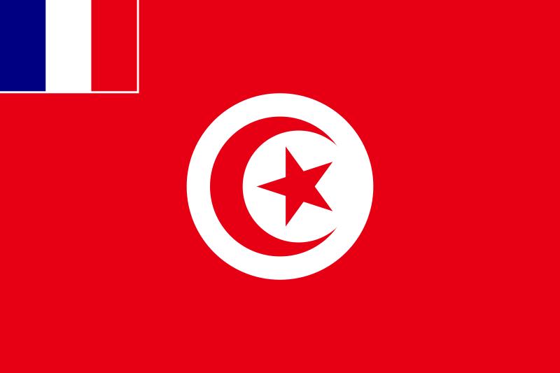 Drapeau protectorat Tunisie