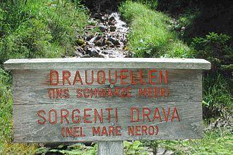 Drava - Drava sources, Innichen