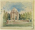 Drawing, Rendering for Bliss Family Mausoleum, 1901 (CH 18419907-2).jpg
