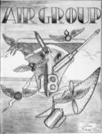 Drawing of an emblem of the US Navy Carrier Air Group 18 in 1946.png