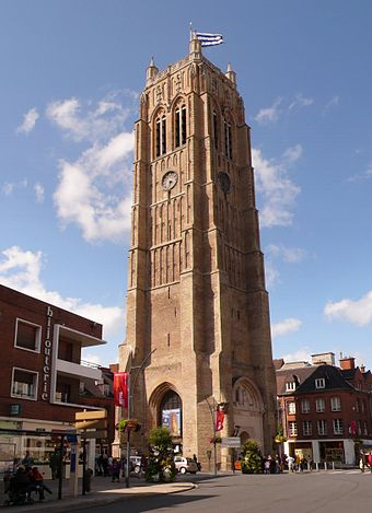 Belfry, Dunkirk - the northern end of the meridian arc Dunkerque Belfort.JPG