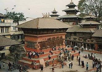 Kathmandu Durbar Square - One view of the Kathmandu Durbar Square