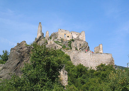 Castell de Durnstein, on va estar captiu.