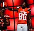 Dwayne Bowe Cleveland Browns New Uniform Unveiling (16534320203).jpg