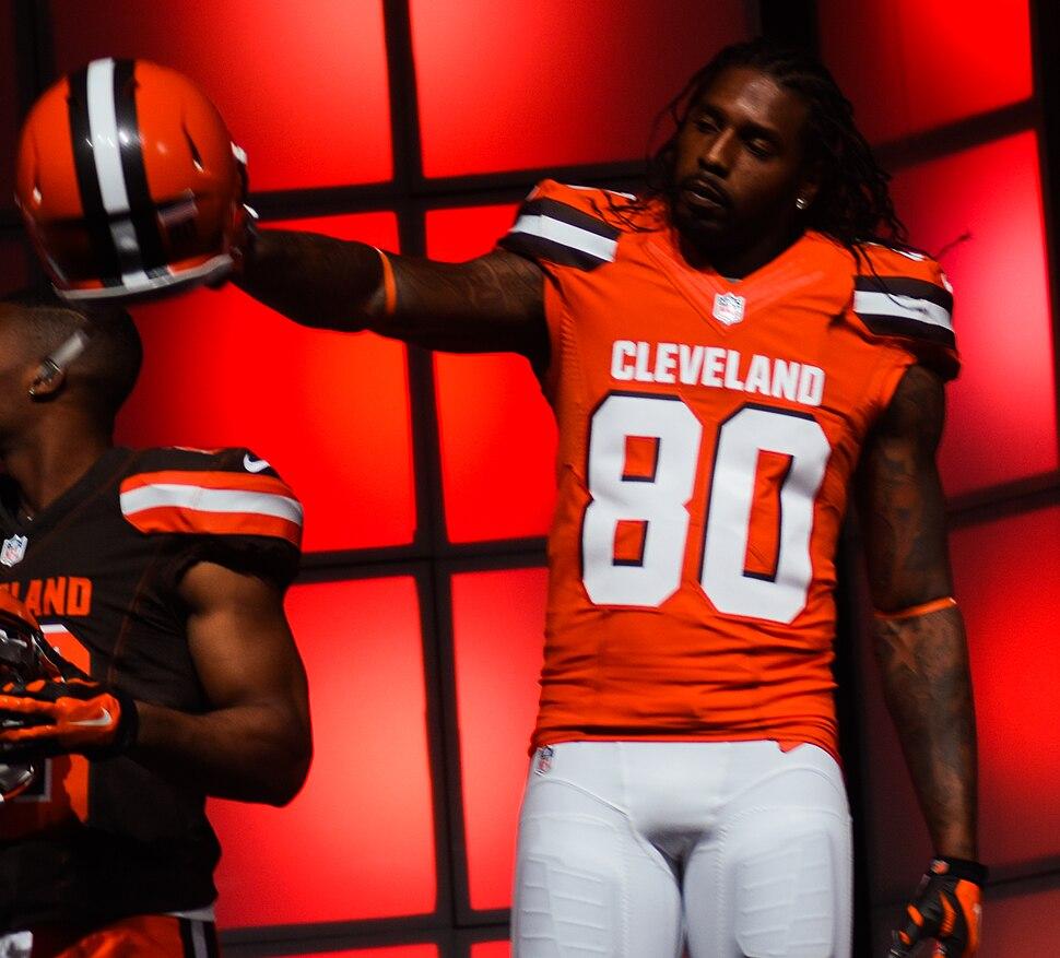 Dwayne Bowe Cleveland Browns New Uniform Unveiling (16534320203)