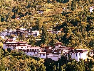 Trongsa Place in Trongsa District, Bhutan