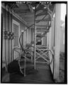 EXTERIOR, BACK IRON STAIRWAY DETAIL - William P. Robinson House, 3742 Erie Street, Willoughby, Lake County, OH HABS OHIO,43-WILL,1- 5-5.tif