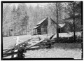 EXTERIOR, WEST CORNER VIEW OF BOTH CABINS - Henry Whitehead Place, Townsend, Blount County, TN HABS TENN,5-CADCO.V,1-4.tif