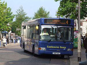 Eastbourne Buses - Bus number 48, a Dennis Dart SLF/Plaxton Pointer 2 on service 4.