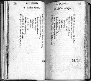 "Easter Wings - ""Easter Wings"" in the 1633 edition of The Temple"