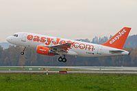EasyJet Airbus A319-100 G-EZDV Zurich International Airport.jpg