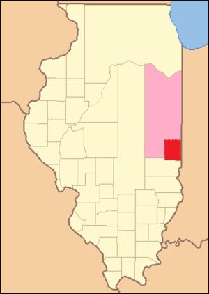 Edgar County, Illinois - Image: Edgar County Illinois 1825