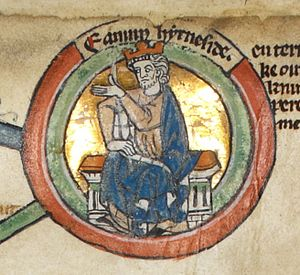 Edmund Ironside - Edmund in the early fourteenth century Genealogical Roll of the Kings of England