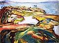 Edvard Munch - Landschaft am Meer (1918).jpg