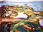Edvard Munch - Landschaft am Meer (1918).jpg