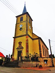 The church of Saint-Hubert in Mittersheim