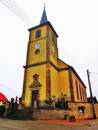Mittersheim - The church of Saint-Hubert in Mittersheim