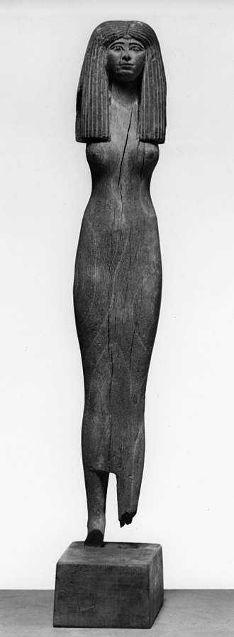 Sheath dress - Egyptian - Female Tomb Figure - Walters 2215