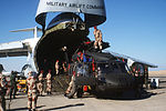 Egyptian and U.S. troops unload a CH-3 Jolly Green Giant helicopter from a C-5 Galaxy aircraft during Exercise Bright Star '82 DF-ST-82-10036.jpg