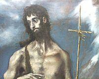 El Grego - San Juan Bautista detalle - Óleo sobre lienzo 103 x 62cm - Museo de Bellas Artes de Valencia.jpg