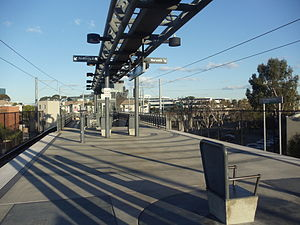 El Segundo station - El Segundo Metro Green Line Station platform.