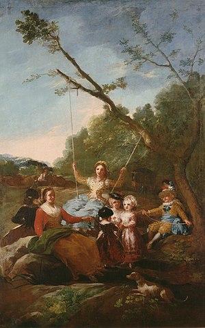 Resultado de imagen de El columpio, de Goya