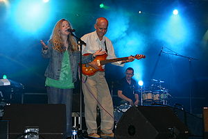 Elaine Morgan (singer) - Elaine Morgan in concert with Dan Ar Braz, 2008