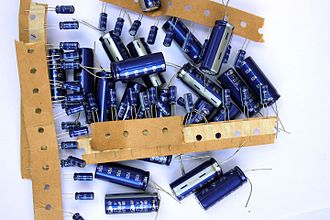 Electrolytic capacitor - An assortment of electrolytic capacitors