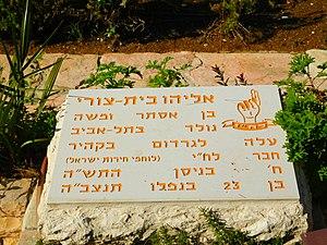 Eliyahu Bet-Zuri - Grave of Bet-Zuri in Mount Herzl, Jerusalem, Israel.