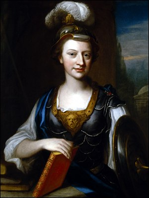 Elizabeth Carter - Elizabeth Carter as Minerva, goddess of wisdom, by John Fayram (painted between 1735 and 1741, NPG).