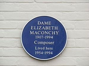 Elizabeth Maconchy - Elizabeth Maconchy's plaque in Shottesbrook, Boreham
