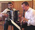Ensemble Klesmer Wien 20090618 'Klezmer Reloaded' team, Alexander Shevchenko + Maciej Golebiowsk 046.jpg