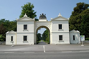 Bicton College - Entrance Gate to Bicton College.