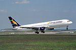 Eritrean Airlines Boeing 767-366-ER E3-AAO (30328825863).jpg