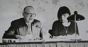 Ernst Jandl - Ernst Jandl and Friederike Mayröcker, public reading in Vienna, 1974