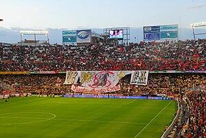 Estadio Ram%C3%B3n S%C3%A1nchez Pizju%C3%A1n Gol Norte tifo-2007-04-05