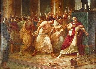 <i>Et tu, Brute?</i> Latin phrase made famous by Shakespeares Julius Caesar