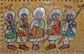 Ethiopian painting of Ethiopian Orthodox choir.png