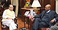 Ethiopis Tafara meeting the Union Minister for Finance, Corporate Affairs and Information & Broadcasting, Shri Arun Jaitley, in New Delhi on October 27, 2015.jpg