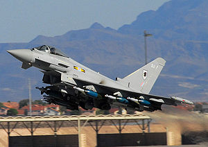 Royal Air Force Eurofighter Typhoon fighter ta...