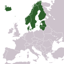 Europe North-European countries map.png