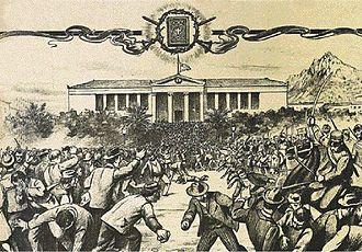 Gospel riots - Clashes outside the University on Black Thursday