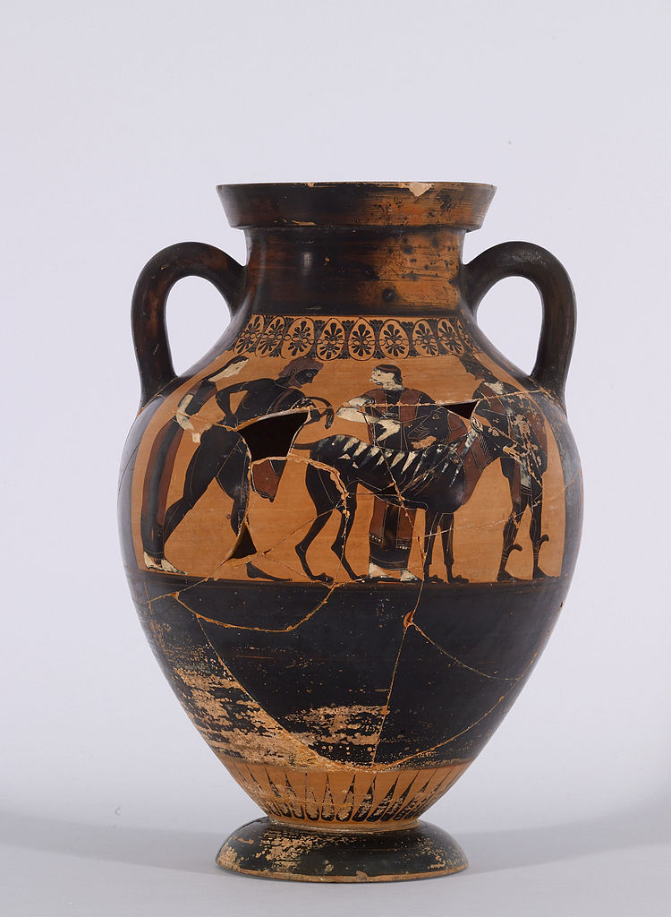 Fileexekias Black Figure Belly Amphora With The Reclamation Of