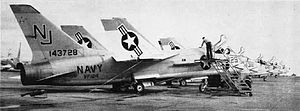 VF-124 - F8U-1s of VF-124 at NAS Miramar in the early 1960s.